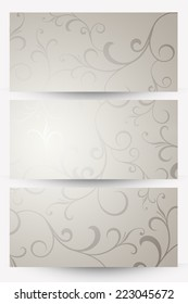 abstract silver banners
