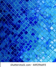 abstract silver blue mosaic background