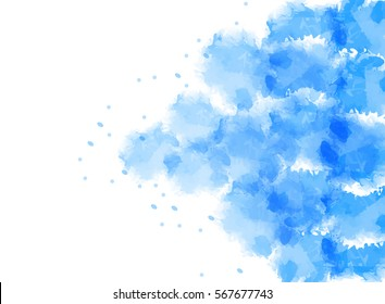 Abstract sky watercolor background