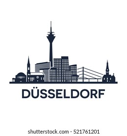 Abstract skyline of city Duesseldorf in Germany