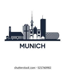 Abstract skyline of city Munich in Germany