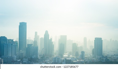 Abstract skyline sunset background