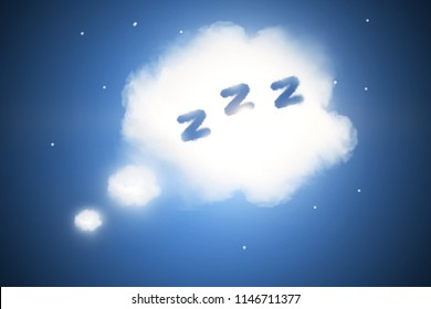 Abstract sleep cloud background. Bed time concept