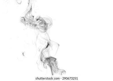 abstract smoke background, black smoke color on white background, black ink on white background