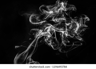 abstract smoke from incense in studio