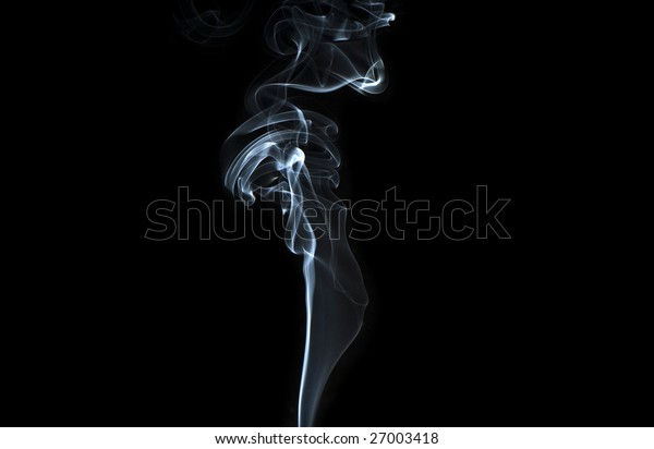 abstract smoke isolated on the black