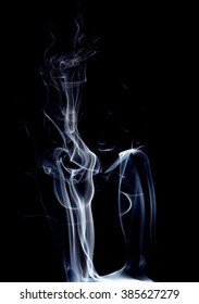 Abstract smoke moves on  black background