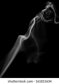 abstract smoke on a black background