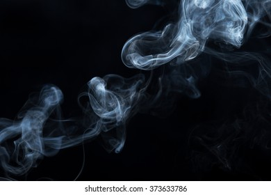Abstract Smoke. on black background