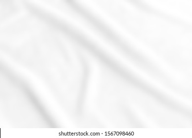 abstract smooth elegant white fabric texture background,flowing satin waves