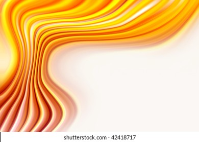 Abstract smooth orange tone flowing background.
