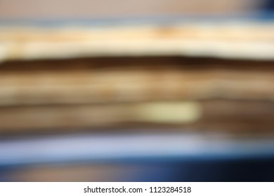 Abstract Soft Focus Background in Blue and Beige