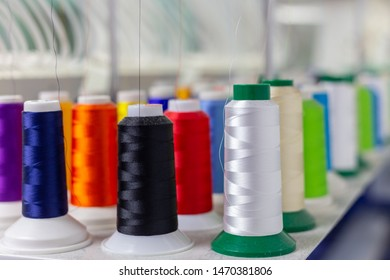 Abstract soft focus blur of embroidery thread for background use