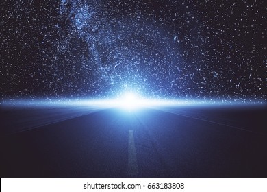 Abstract space road. Creativity concept