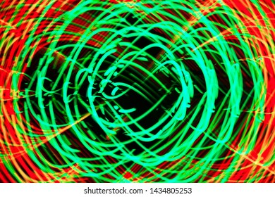 Abstract Spin colorful, Digital colorful futuristic conceptual, Long exposure neon lights texture