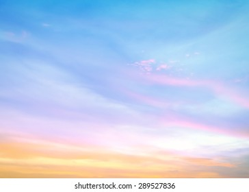 Abstract spiritual sky and clouds sunset background