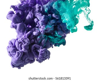 Abstract splash of paint isolated on white background