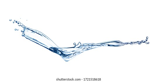 Abstract splash of water on white background. Banner design
