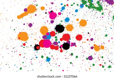 Abstract splashes and spots background