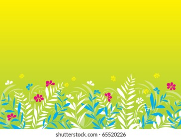 abstract spring composition of plant and flowers