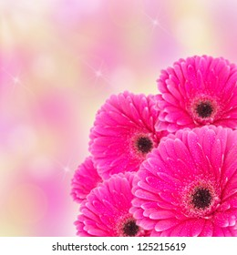 Abstract spring flower background with bokeh