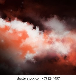 Abstract square background of space , star , nebula , galaxy and dust.