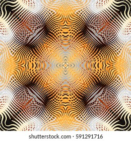 Abstract square background. Symmetric ornament pattern in tribal style