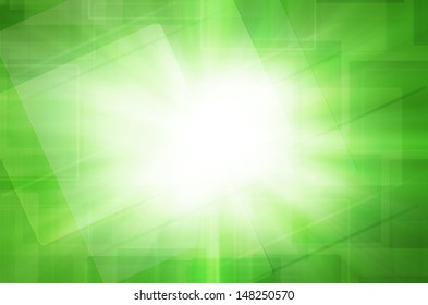 Abstract square on green background.