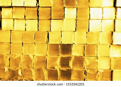 abstract of stack metal cube for background used
