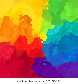abstract stained pattern texture background full spectrum rainbow colors - modern painting art - watercolor effect