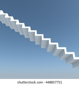 Abstract stairs 3d rendering