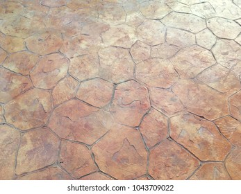 Abstract stamp concrete floor background pattern texture