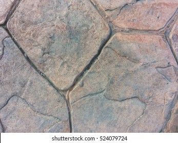 Abstract, Stamp concrete texture pattern and background.