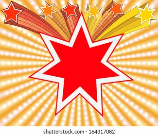Abstract star background, raster graphics.