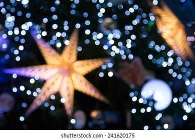Abstract Star and bokeh night background