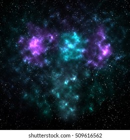 Abstract Stars of cyan violent nebula and galaxy burst,computer wallpaper background