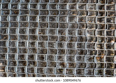 Abstract steel mesh texture, concept image.