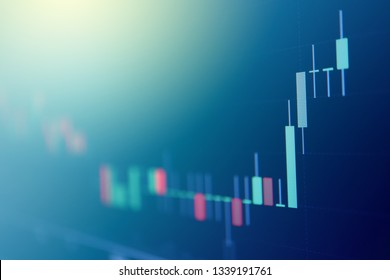 Abstract stock market Candlestick graph background finance, forex, Cryptocurrency, stock market data and financial investment concept.