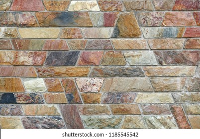 Abstract stone tile texture brick wall background.