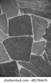 Abstract of stone wall, Texture background, Black and white tone