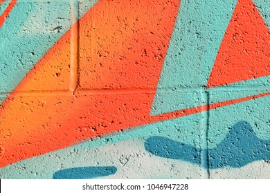 Abstract street art spray paint texture background.