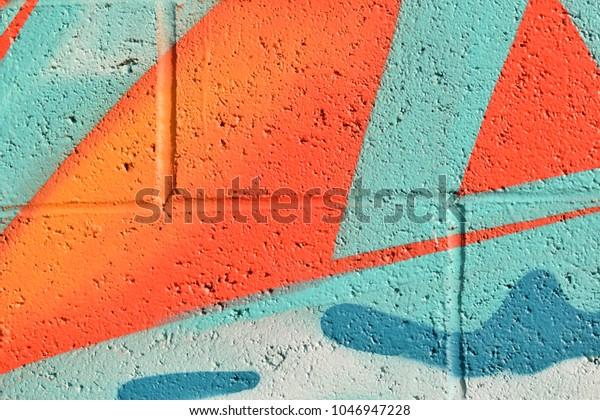 Abstract street art spray paint texture background.