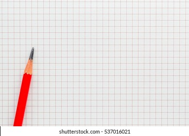 Abstract striped notebook with pencil on white paper line pattern. Blank notebook. picture for add text message or used background on website