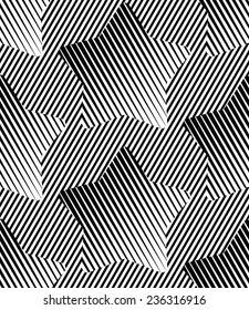 Abstract Striped Stars Geometric Seamless Pattern Background