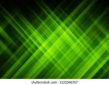 Abstract stripes emerald background. Beautiful illustration crossing lines.