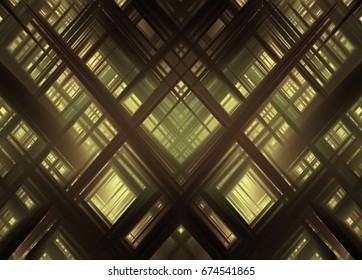 Abstract stripes yellow background. Beautiful illustration crossing lines.