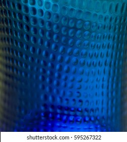 Abstract structures. Glass surface. Texture. Macro. Circles. Background. Pattern. Geometry. Design. Blue. Photography