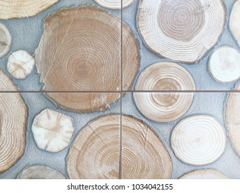 Abstract stump tiled background.