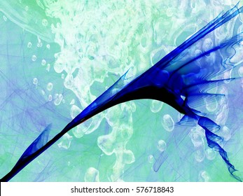 abstract style smoke multicolored line ornament background, frame abstract