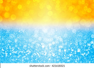 Abstract summer sunset or sunrise bokeh sparkle background over sea lake or ocean tropical beach pool water